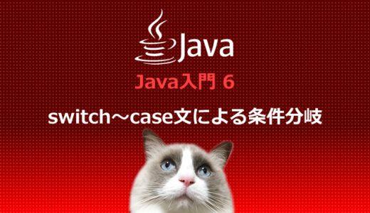 Java入門6 switch~case文による条件分岐