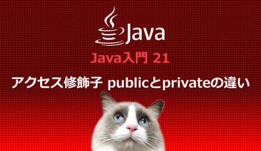 Java入門21 アクセス修飾子 publicとprivateの違い